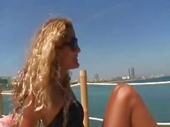 Cute Cuban girl is on a boat and getting cock in mouth and pussy