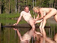 Norwegian Monicamilf gets fucked hard by big swedish cock