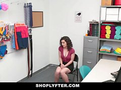 ShopLyfter Teen Gives It Up To Big Cock Security