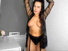 Slutty Big Tits Brunette Camwhore Having Self Pleasure