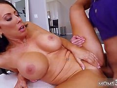 mom lends cock first time hot milf for his birthday