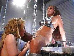 Lesbian fantasies in the garage