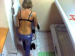 Voyeur webcam nude girl in solarium part35