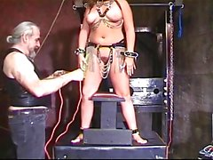 Horny Princess fucks a dildo in dungeon