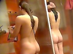 good looking amateurs spied in public shower