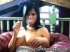 Awesome Smoking Gal Ready For Sex