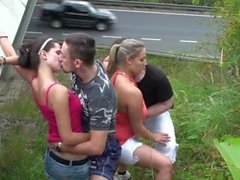 Group orgy in PUBLIC