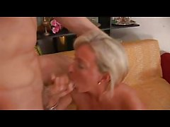 Hot Blonde Italian Mature Fucks Delivery Guy