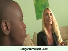 Wild cougar milf gets banged by black 10