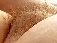 Chubby Granny's Hairy Muff teased and taped