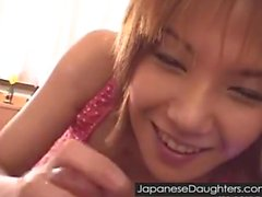 Cute japanese daughter assfucked hard