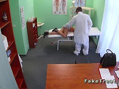 Doctor fucks sexy patient in fake hospital
