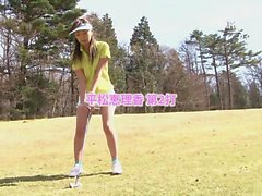 Sexy cute girls loves sucking her golf instructors cock
