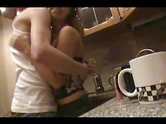 Stare at passionate slut drilled very hard in the kitchen