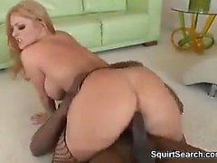 Horny White Chick On A Big Black Dick