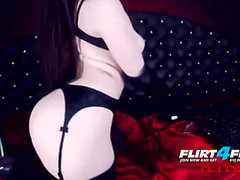 Erny Dark - Flirt4Free - Goth Babe in Latex and Stockings