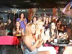 Honeys are sucking schlongs hungrily during stripper party