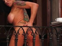 Spanish Gigi Love Squirts On Balcony