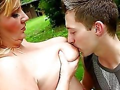 Gorgeous BBW domme makes guy feel her full weight on hif face