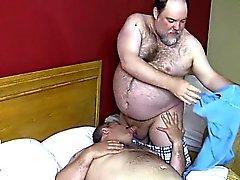 Large jock gay butthole job with cumshot