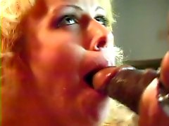 Blonde babe banged by black cock