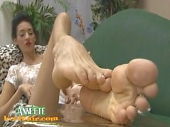 Annette's feet ( high arches and soles )