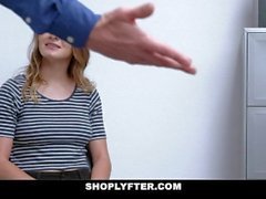 ShopLyfter - Small Tits Teen Blows Her Way Out Of Jail
