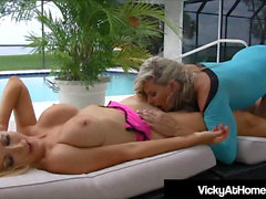 VNA Babes Vicky Vette & Nikki Benz Tongue Fuck Each Other!