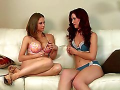 Interview in lingerie with Karlie Montana and Emily Addison
