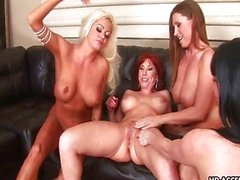 Wildest foursome lesbian action