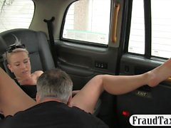 Big boobs blonde passenger pussy screwed