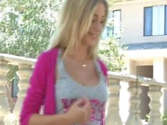 FTV Girls FTVGirls Julia sexy blonde teen flashing boobs in a public place