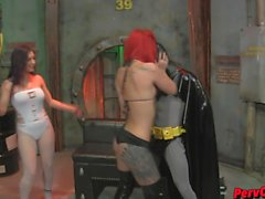 GoGo Girls VS Batman FEMDOM SUPERHEROINE CBT DANCING