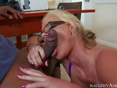 Phoenix Marie getting drilled by black delivery guy