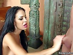 Gorgeous Angelina Valentine with big boobs and round ass gets nailed
