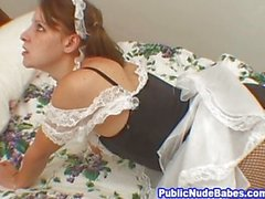 Slutty Maid Toy Masturbation