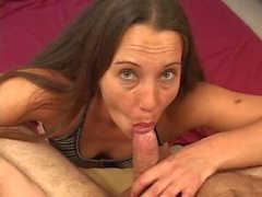 Amber Rayne is one dirty girl and gives a double bj with a double facial