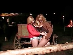 These Two Hot Brazilian Girlfriends Get Frisky At The Ranch