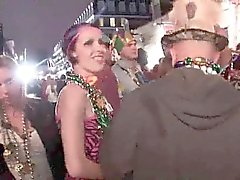 Random amateurs flashing in public during mardi gras