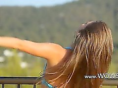 Killer analhole teasing on the balcony
