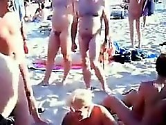 Horny Nudists Getting It On At A Beach