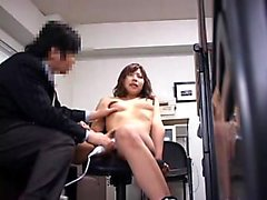 Hot Asian secretary with lovely boobs fucks a hard cock in