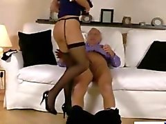 Model lets geriatric lover fuck her from behind