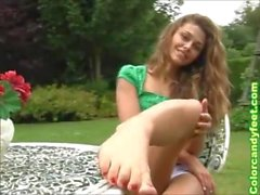 Hot European Teen Sexy Feet POV