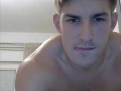 Sexy stud jerking off on cam