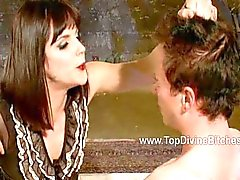 Sparkles licks Mistress Bobbi Starr ass clean