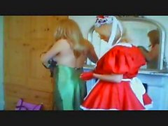 Lopette is getting changed and is helped by her naughty maid