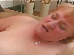 two fat matures lesbian on bed