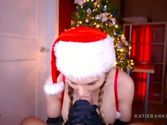 Busty Beauty Milks Your Cock POV - Katie Banks Christmas Gift