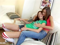 Fresh Faced Duo by Sapphic Erotica lesbian love porn with Ashlie Amanda